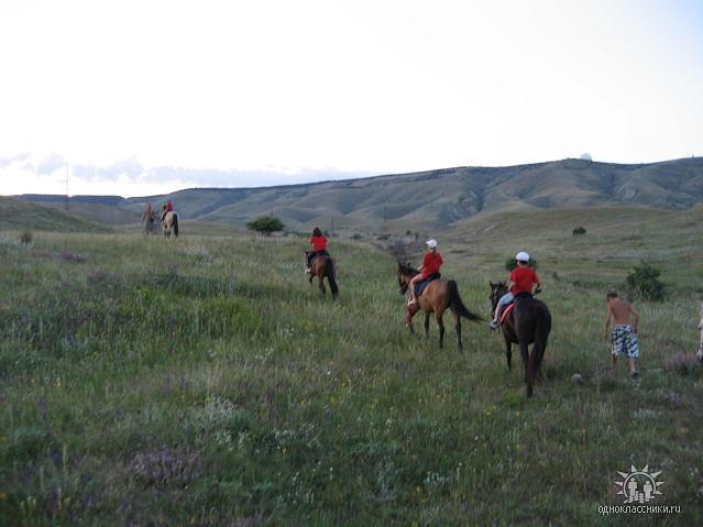 Катание на лошадях в окрестностях Орджоникидзе, Крым.