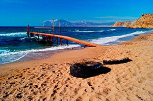 Центральный пляж Орджоникидзе - Крым.