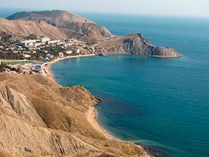 Виды и окресности Орджоникидзе - Крым.